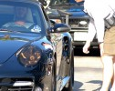 David Beckham in his Porsche Turbo
