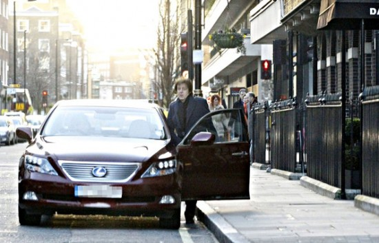 Sir Paul McCartney Lexus LS600h