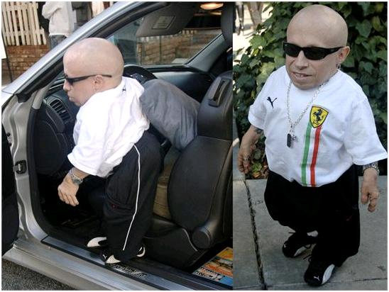celebrity cars pictures verne troyer Mini Me custom Mercedes clk