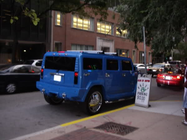 Alfonso Soriano's Hummer H2 Rear View