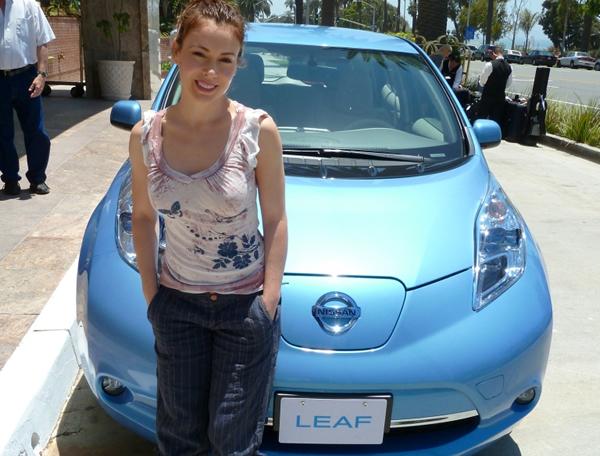 Alyssa Milano - Nissan Leaf