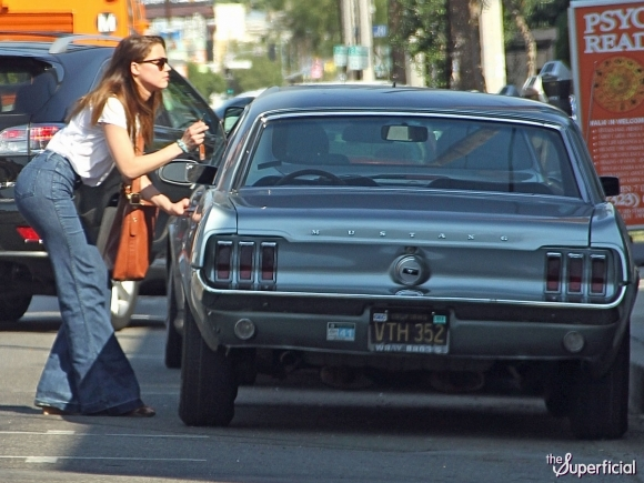 Amber Heard Ford Mustang
