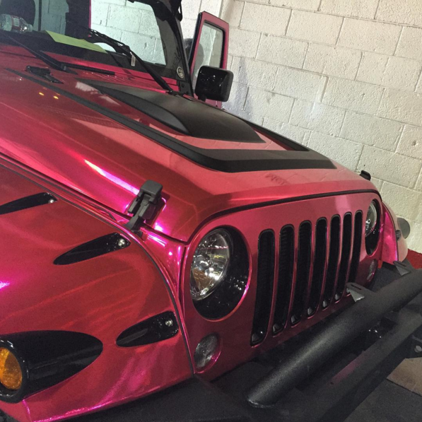 Amber Rose Chrome Jeep