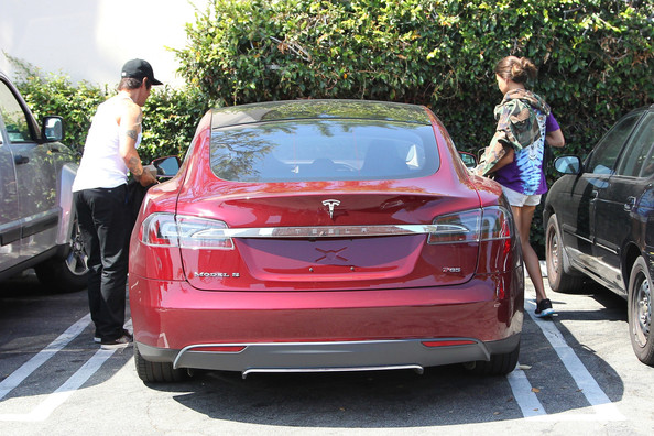 Anthony Kiedis Tesla Model S