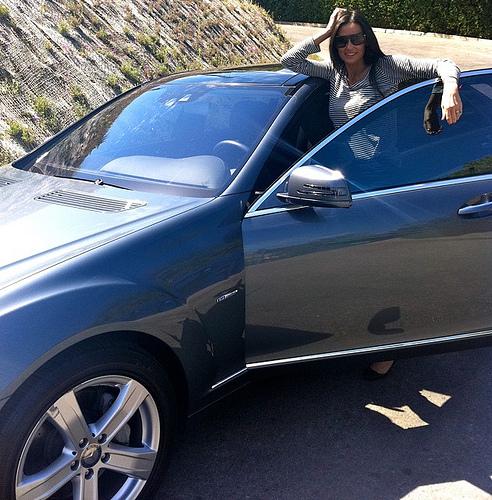 Ashton Kutcher and Demi Moore Mercedes-Benz's S-Class