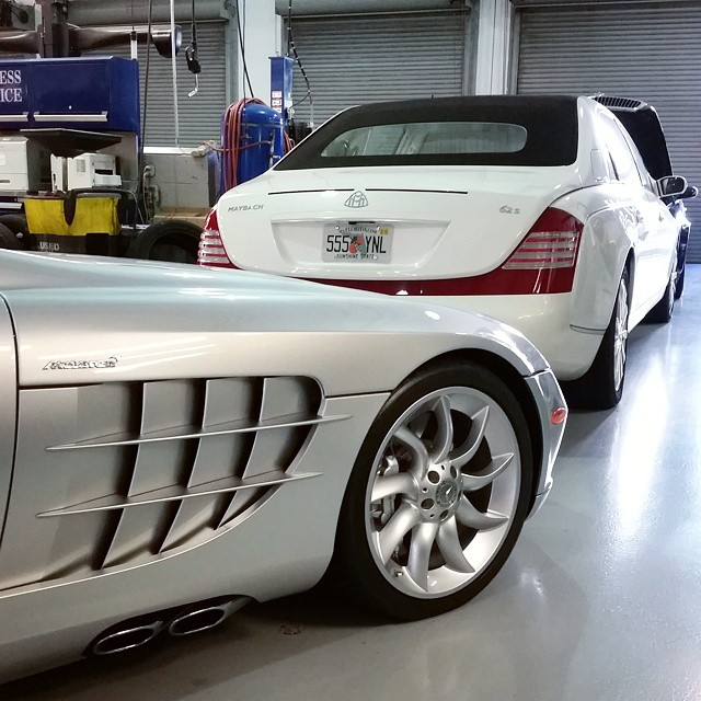 Birdman 39 s maybach landaulet in for service celebrity for Who owns mercedes benz now