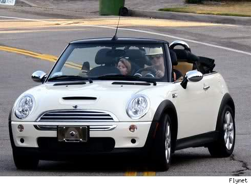 Britney Spears In Her Convertible Mercedes Clk