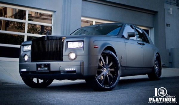 Chad Ochocinco Matte Gray Rolls Royce Phantom