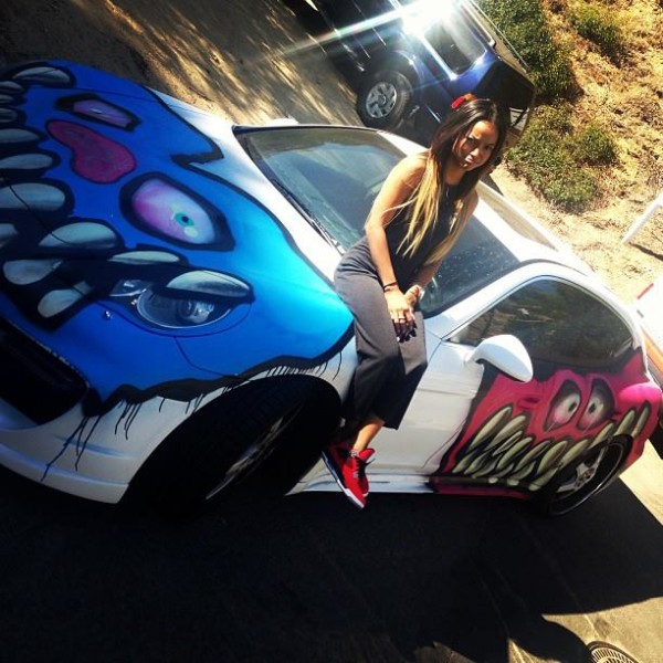Chris Brown Karrueche Tran Porsche