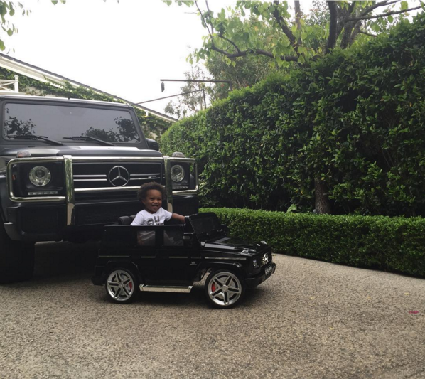 Russell Wilson Gets A Matching G-Wagon For Ciara's Son