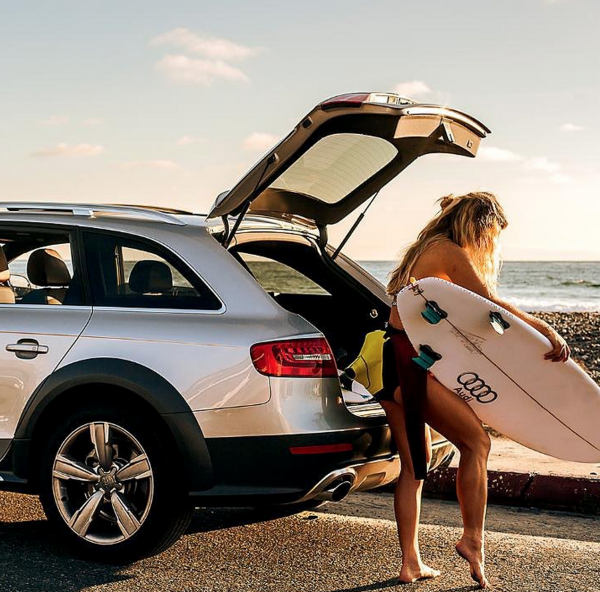 Coco Ho in her Audi Allroad