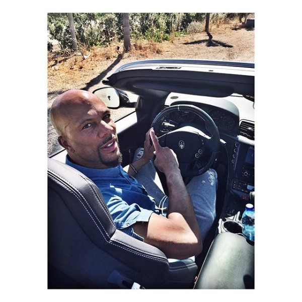 Common driving a Maserati in Rome
