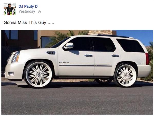 DJ Pauly D Escalade