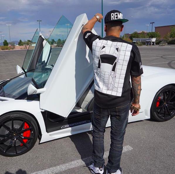 DJ Pauly D Lamborghini Aventador Roadster