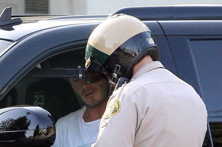 David Beckham Up Close in his Cadillac Escalade