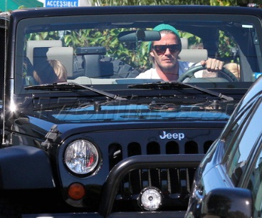 David Beckham Jeep Wrangler