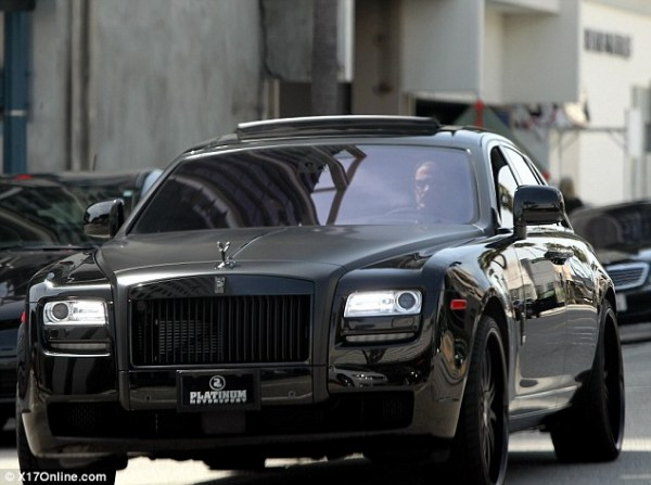David Beckham Rolls Royce Ghost