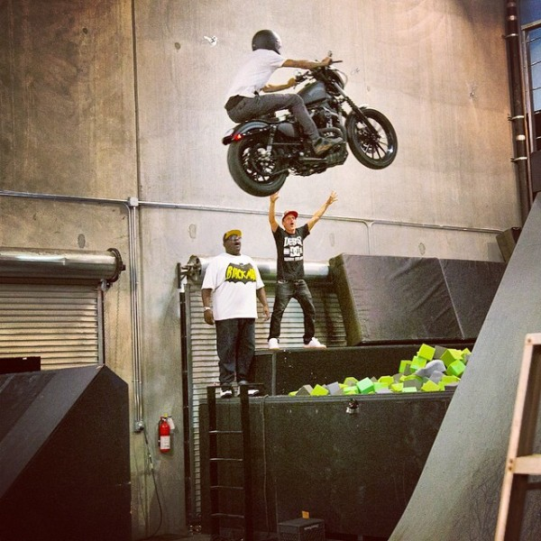 Drama Jumping His Harley