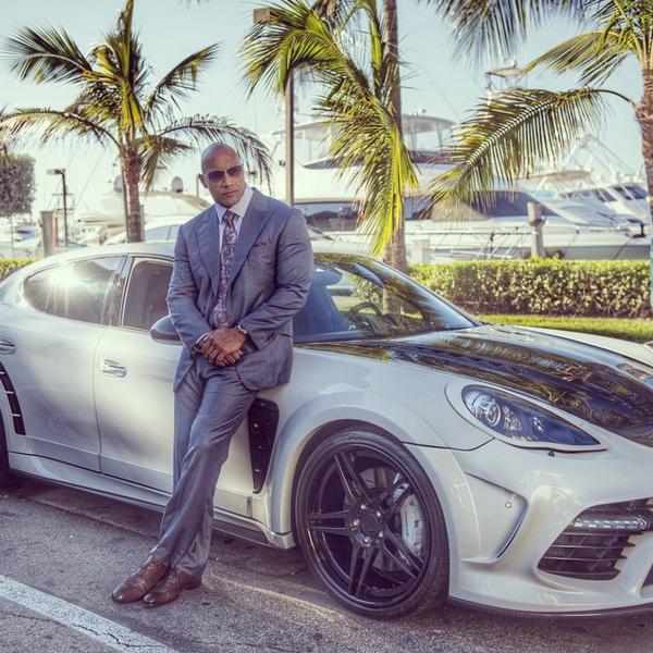 Dwayne Johnson Porsche Panamera