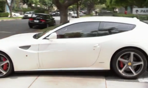 Dwight Howard Driving off in Ferrari FF