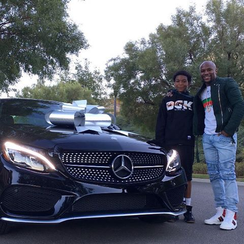Floyd Mayweather Gives His Son A New Mercedes Benz For His