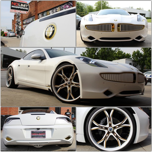 Frank Walker White and Gold Fisker Karma