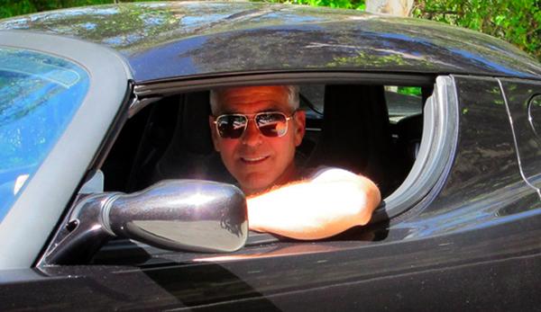 George Clooney - Tesla Roadster