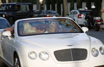 Update: Heidi Klum in that Bentley Continental GT ...