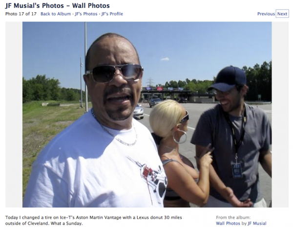Ice T And Coco Get a Flat Tire