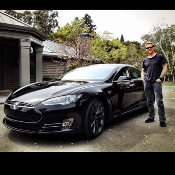 James Hetfield Black Tesla Model S