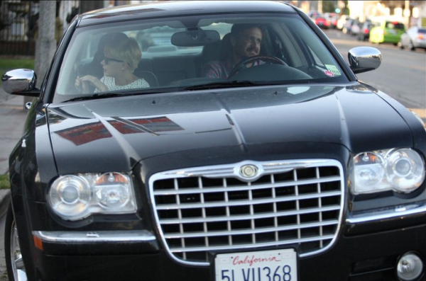 Jason Segel Michelle Williams Chrysler 300 C