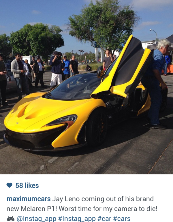 Jay Leno McLaren P1