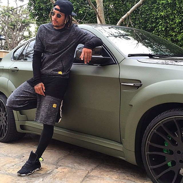 Jermaine Jones Matte Green Bmw X6m Celebrity Cars Blog