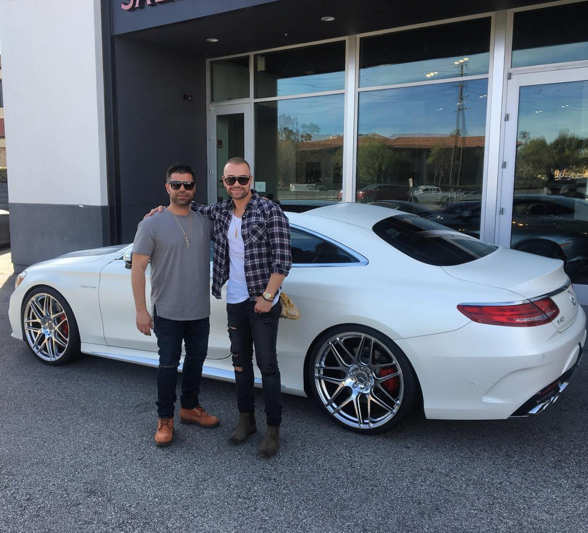 Scott And Amie Yancey Joey Lawrence Has A Sweet S63 Coupe Celebrity Cars Blog