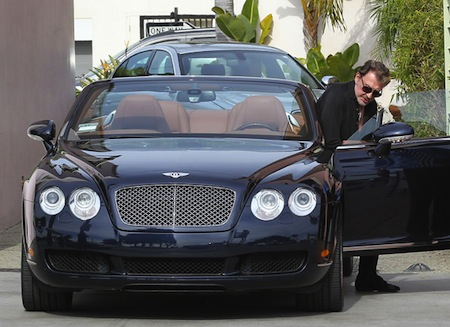 Johnny Hallyday Bentley Continental
