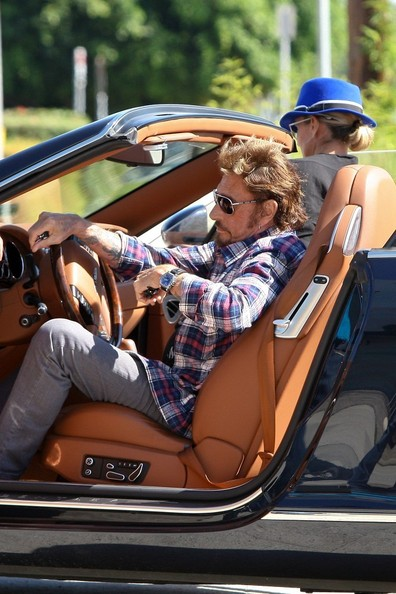 Johnny Hallyday Laeticia Hallyday Bentley Continental