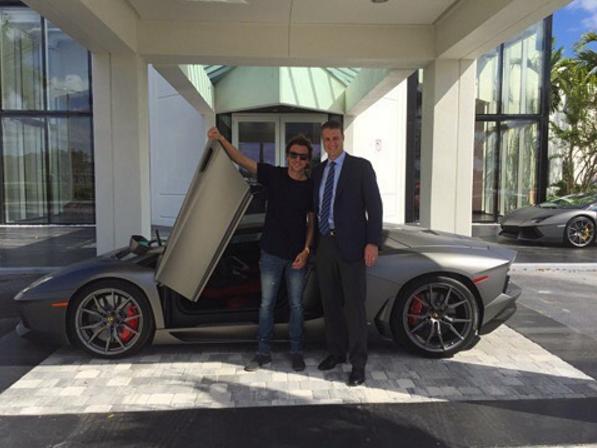 Jonathan Cheban New Lamborghini Aventador