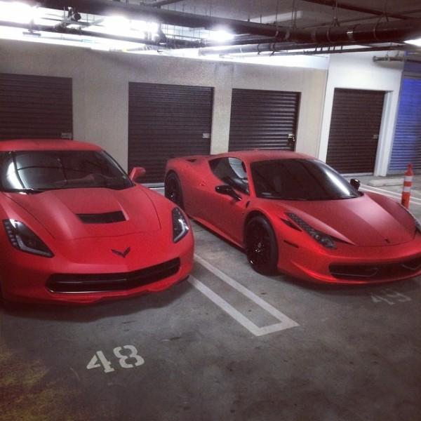 Justin Bieber Ferrari