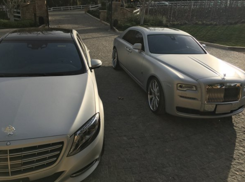 Kanye's Maybach Already Damaged | Celebrity Cars Blog