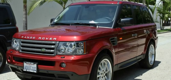 Kate Walsh in her chili red Range Rover Sport