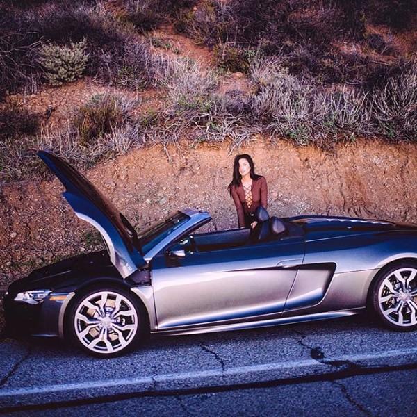 Keegan Allen Audi R8