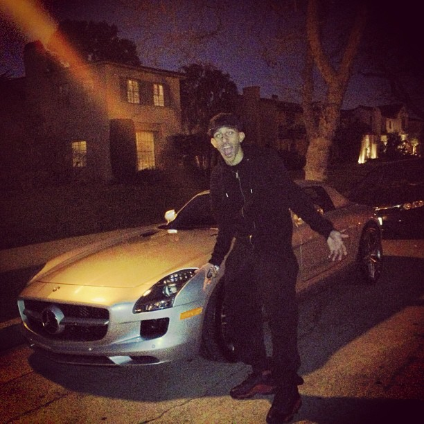 Khleo Thomas Mercedes SLS
