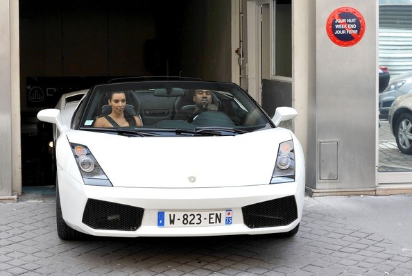 Kim Kardashian Kanye West Lamborghini Gallardo
