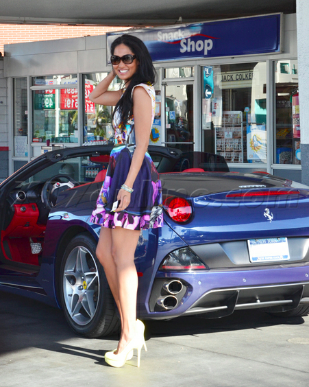 Kimora Lee Simmons Ferrari California