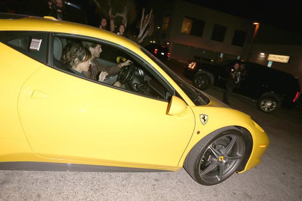 Kourtney Kardashian Scott Disick Ferrari