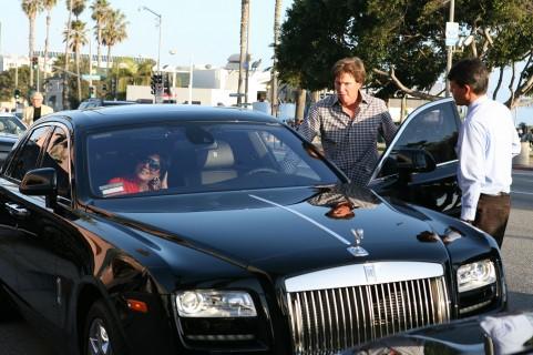 Kris Jenner Bruce Jenner Rolls Royce
