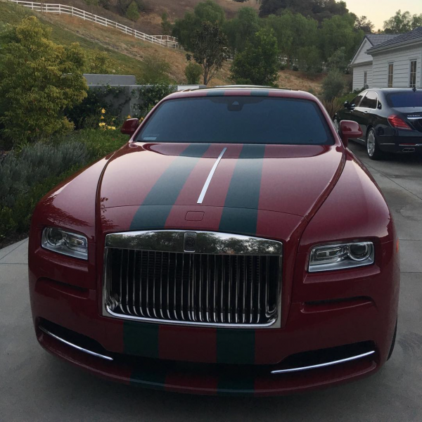 kylie jenner ruined her wraith celebrity cars blog