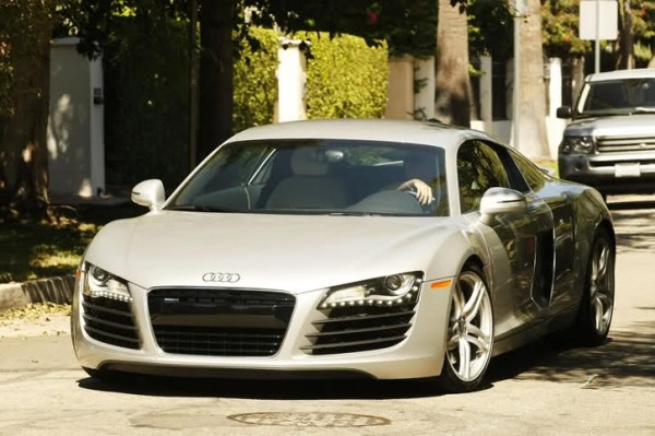 Lauren Conrad shows off her new Audi R8.