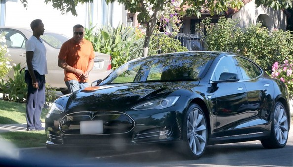Laurence Fishburne Tesla Model S