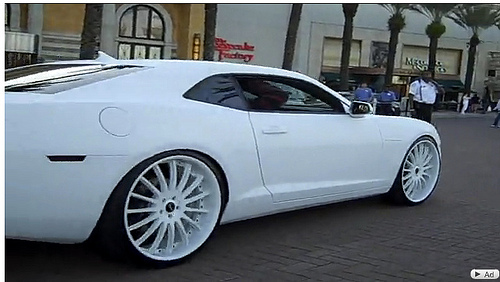 Lebron James White Camaro